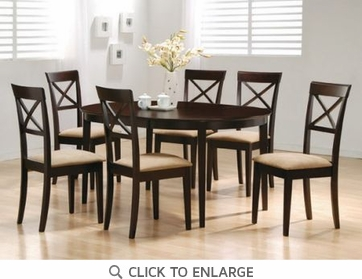 Hyde 5 Piece Oval Dining Table and Chairs by Coaster 100770-100774
