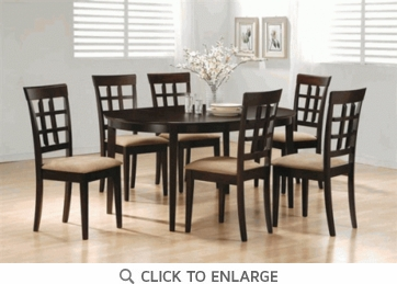 Hyde 7 Piece Oval Dining Table and Chairs
