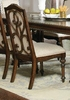 Ilana Antique Java Traditional Formal Dining Chair With Turned Legs - Set of 2