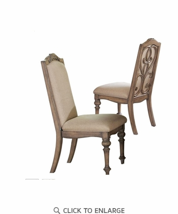 Ilana Traditional Formal Dining Side Chair With Turned Legs 122212 - Set of 2