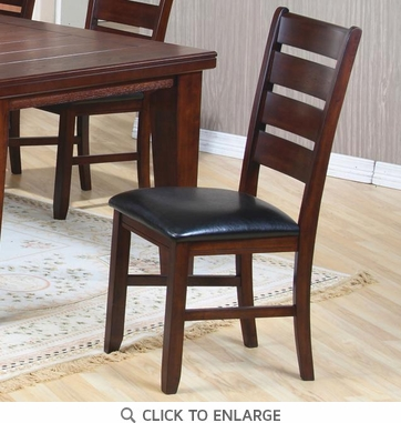 Imperial Rustic Oak Ladder Back Dining Chairs by Coaster 101882 - Set of 2