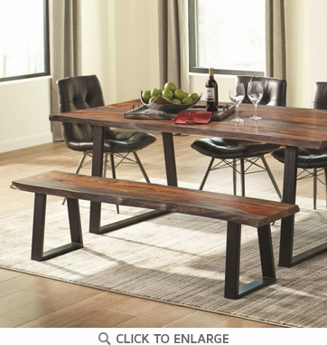 Jamestown Rustic Live Edge Dining Bench