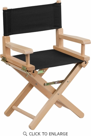 Kid Size Directors Chair in Black [TYD03-BK-GG]