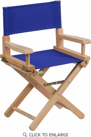 Kid Size Directors Chair in Blue [TYD03-BL-GG]