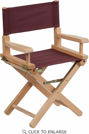 Kid Size Directors Chair in Brown [TYD03-BN-GG]