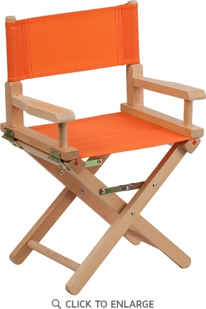 Kid Size Directors Chair in Orange [TYD03-OR-GG]