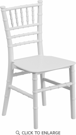 Kids White Resin Chiavari Chair [LE-L-7K-WH-GG]