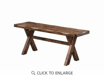 Knotty Nutmeg Rustic-Country Dining Bench