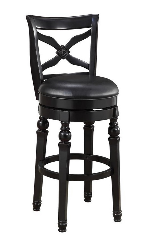Sensational Lathrop 29 Inch Black Faux Leather Swivel Bar Stool By Coaster Gmtry Best Dining Table And Chair Ideas Images Gmtryco