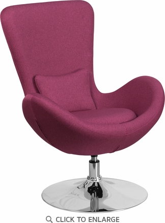 Magenta Fabric Egg Series Reception-Lounge-Side Chair [CH-162430-MAG-FAB-GG]