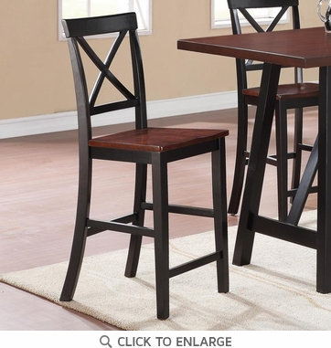 Makelim Two-Tone X Back Counter Dining Chairs by Coaster 104502 - Set of 2