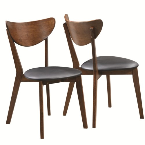 Malone Walnut Dining Side Chair Set Of 2