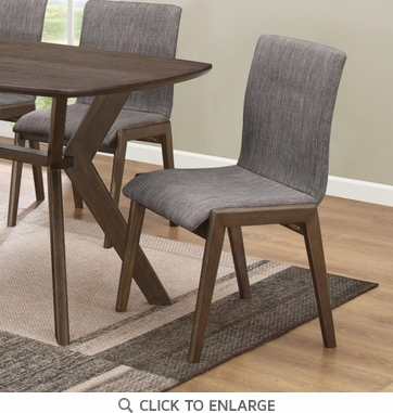 McBride Grey Fabric Upholstered Dining Side Chair - Set of 2