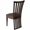 Medford Espresso Finish Wood Dining Chair with Dramatic Rail Back and Ultra-Padded Golden Honey Brown Fabric Seat [ES-CB-3820YBH-E-GH-GG]