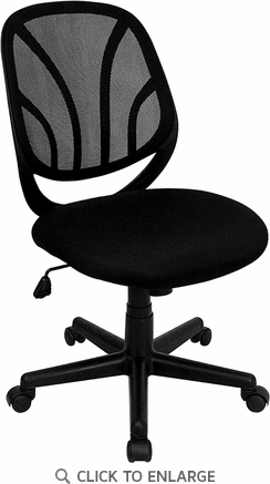 Mid-Back Black Mesh Office Task Chair [GO-WY-05-GG]