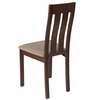 Milton Walnut Finish Wood Dining Chair with Vertical Slat Back and Magnolia Brown Fabric Seat [ES-CB-2442YBH-W-CR-GG]