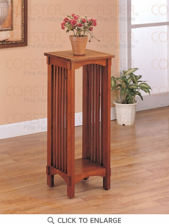 Mission Style Oak Finish Plant Stand by Coaster - 4040