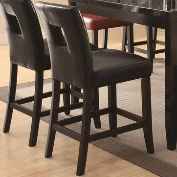 Newbridge Black Vinyl Counter Height Stool Chair by Coaster 103619BLK - Set of 2