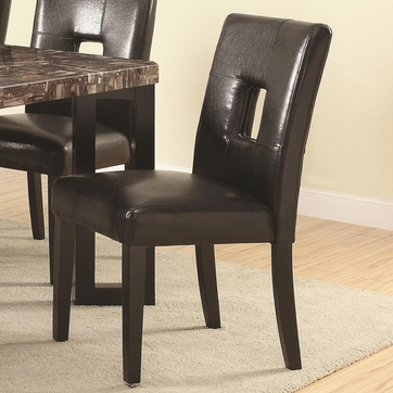 Newbridge Black Vinyl Dining Chairs by Coaster 103612BLK - Set of 2