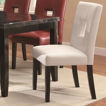 Newbridge White Vinyl Dining Chairs - Set of 2