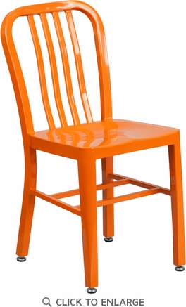 Orange Metal Indoor-Outdoor Chair [CH-61200-18-OR-GG]