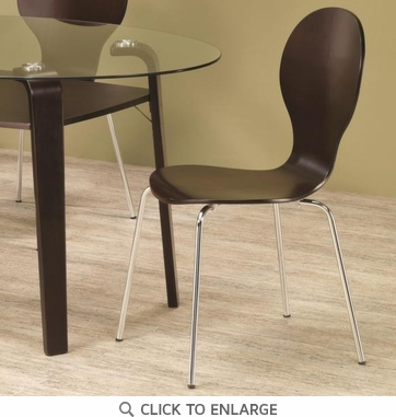 Orval Cappuccino Wood and Metal Dining Chairs by Coaster 120792 - Set of 4