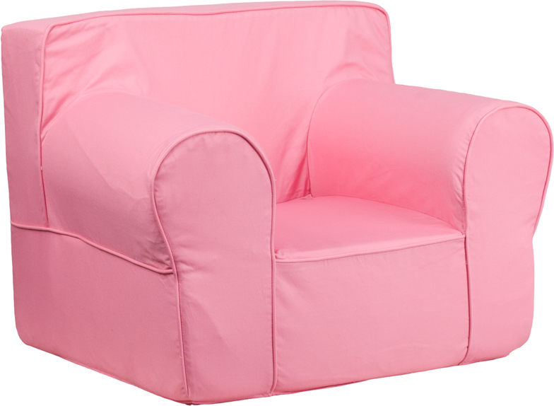 Remarkable Oversized Solid Light Pink Kids Chair Dg Lge Ch Kid Andrewgaddart Wooden Chair Designs For Living Room Andrewgaddartcom