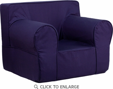 Oversized Solid Navy Blue Kids Chair [DG-LGE-CH-KID-SOLID-BL-GG]