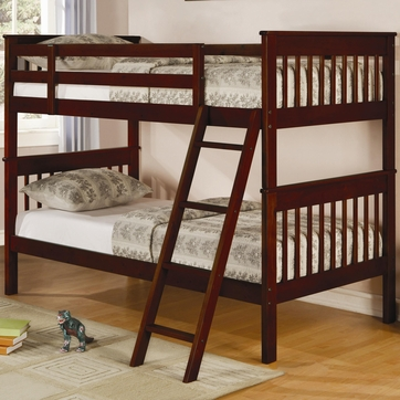 Parker Twin Slat Bunk Bed in Cappuccino by Coaster  460231