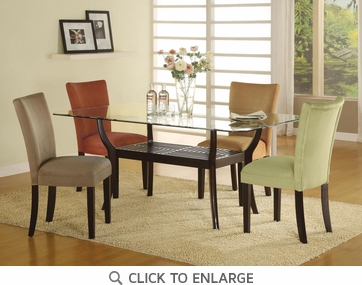 Parson Dining Chairs Taupe Red Green Gold by Coaster 101492 - Set of 4