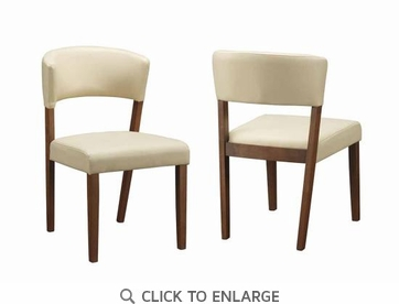 Paxton Cream Upholstered Dining Chairs - Set of 2