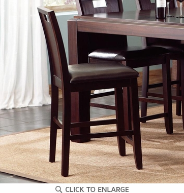 Prewitt Dark Espresso Counter Height Dining Chairs 102949 - Set of 2