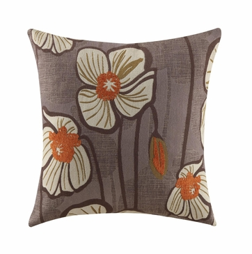Purple Floral Accent Throw Pillow by Coaster 905045 - Set of Two