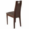 Quincy Walnut Finish Wood Dining Chair with Curved Slat Wood and Golden Honey Brown Fabric Seat [ES-CB-2453YBH-W-GH-GG]
