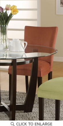 Terracotta Microfiber Parson Dining Chairs by Coaster 101493 - Set of 2