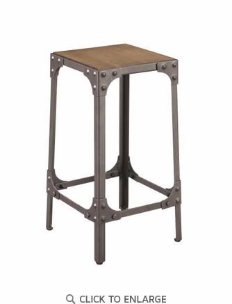 Rustic Light Brown Counter Height Stool, Set of 2