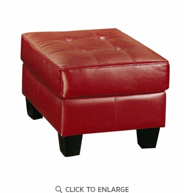 Samuel Red Bonded Leather Ottoman by Coaster - 501834
