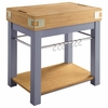 Small Blue Kitchen Island With Removable Cutting Board