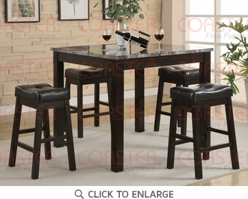 Sofie 5 Piece Cappuccino Counter Height Pub Dining Set by Coaster - 150094