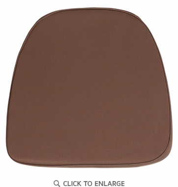 Soft Brown Fabric Chiavari Chair Cushion [BH-BRN-GG]