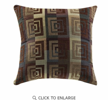 Square Spiral Pattern Accent Pillow by Coaster 905005 - Set of Two