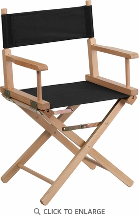 Standard Height Directors Chair in Black [TYD02-BK-GG]