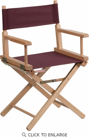 Standard Height Directors Chair in Brown [TYD02-BN-GG]