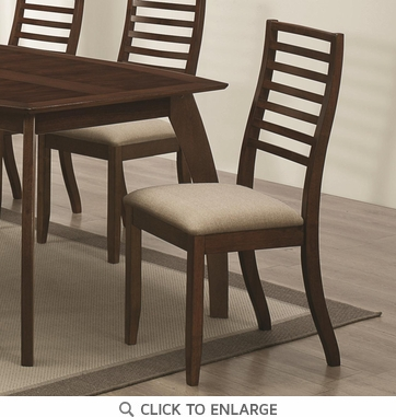 Stanley Cappuccino Dining Chairs with Slat Back by Coaster 104952 - Set of 2