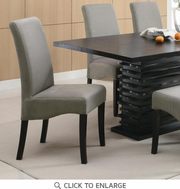 Stanton Gray Dining Chairs with Black Legs - Set of 2