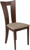 Talbot Walnut Finish Wood Dining Chair with Slotted Back and Magnolia Brown Fabric Seat [ES-CB-3980YBH-W-CR-GG]