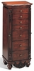 Traditional Antique Cherry Jewelry Armoire Lingerie Chest by Coaster