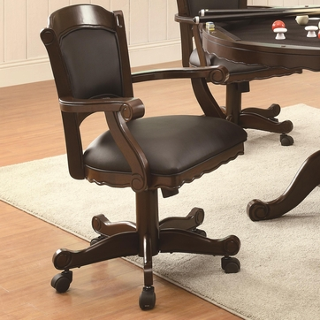 Turk Arm Game Chair with Casters and Fabric Seat and Back by Coaster 100872
