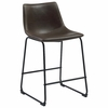 Two-Tone Brown Industrial Counter Height Stool Chair By Coaster, Set Of 2