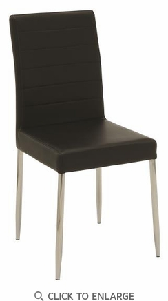 Vance Contemporary Black Vinyl Dining Side Chair - Set of 4